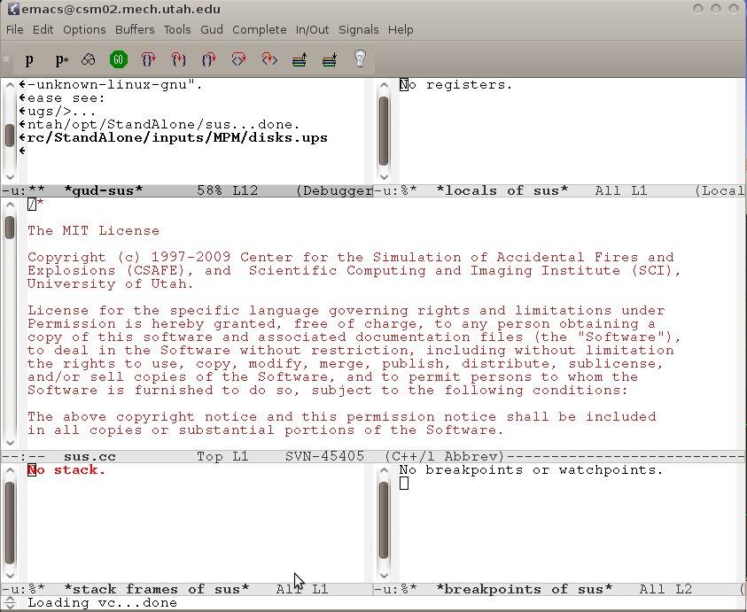 Tutorial: Emacs and GDB | University of Utah CSM Group